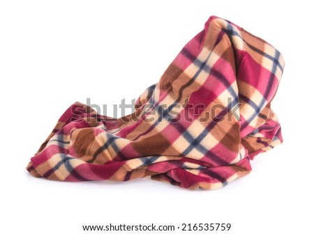 blanket. blanket on the background - stock photo