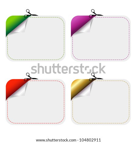 Blanks Advertising Coupon Cut From Sheet Of Paper, Isolated On White Background - stock photo