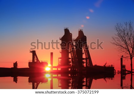 blast furnace in the steel mills, closeup of photo