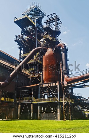 blast furnace Ostrava - stock photo