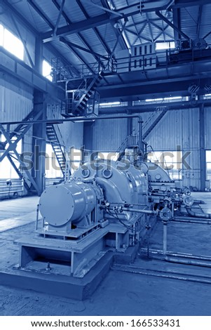 blast furnace TRT Unit in a power plant, north china - stock photo