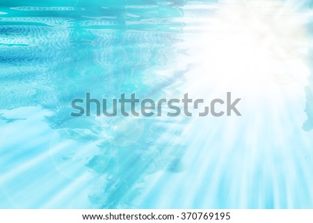 Blasting light over water pool for background design - stock photo