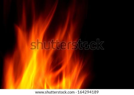 Blaze at night - stock photo