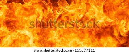 blaze fire flame for banner background - stock photo