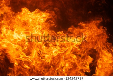 blaze fire flame texture background - stock photo