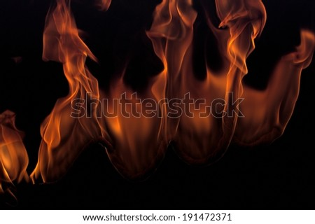 Blazing fire flames - stock photo