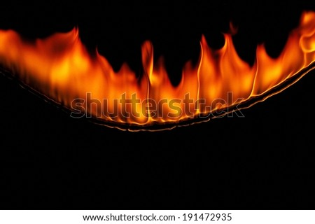 Blazing orange flames - stock photo