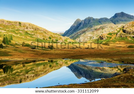 Blea Tarn, English Lake District - stock photo
