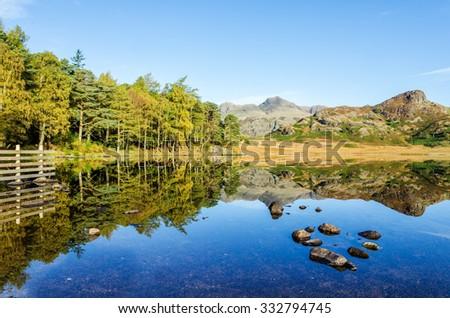 Blea Tarn in the English Lake District - stock photo