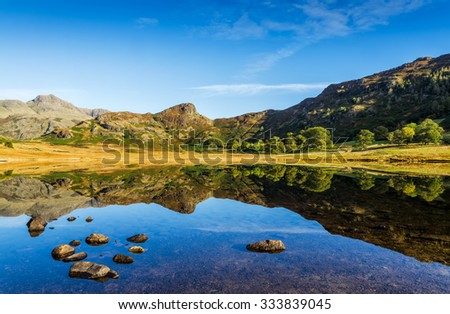 Blea Tarn in the English Lake District - stock photo