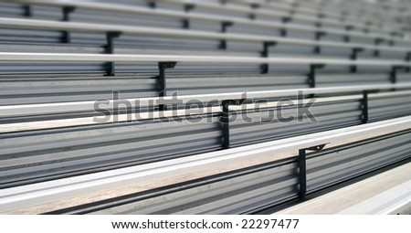 Bleachers in a stadium or school for the fans - stock photo