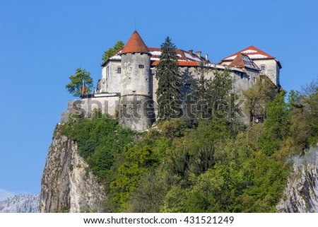 Bled, Slovenia - fortress on the hill