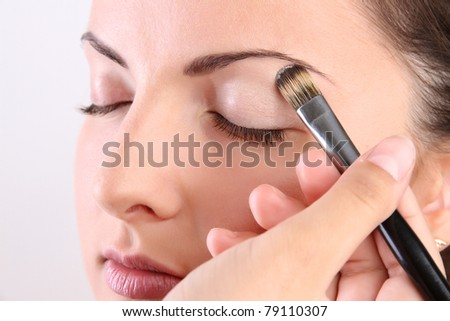 blemishes and pimples will not be visible - stock photo