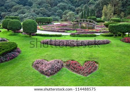 Blend of natural Garden arrangement. - stock photo
