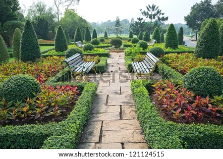 Blend of natural Garden arrangement. - stock photo