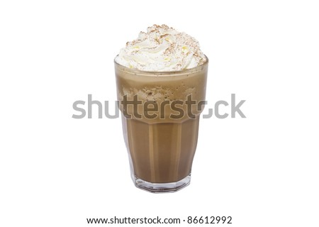 blended coffee on white backgrounds - stock photo