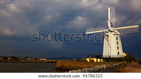 Blennerville windmill near Tralee in county Kerry, Ireland. - stock photo