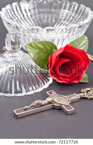 Blessing the Holy Water - stock photo