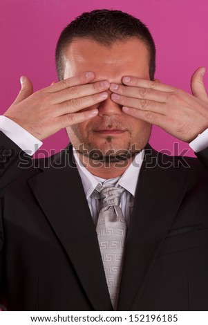 blind business man - stock photo