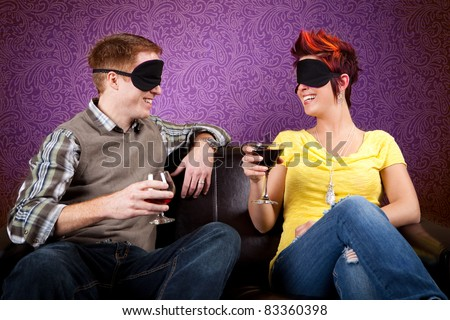 Blind Date - stock photo