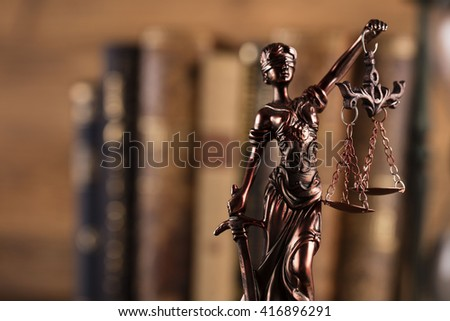 blind justice - stock photo