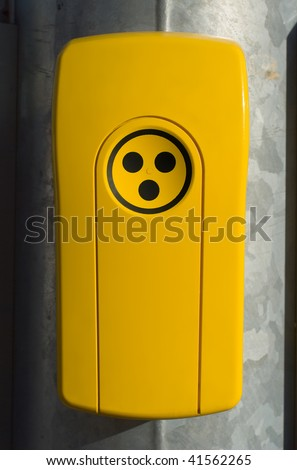 Blind Persons Traffic Signal Indicator - stock photo