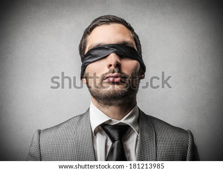 blinded - stock photo