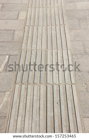 Blinder's track. - stock photo