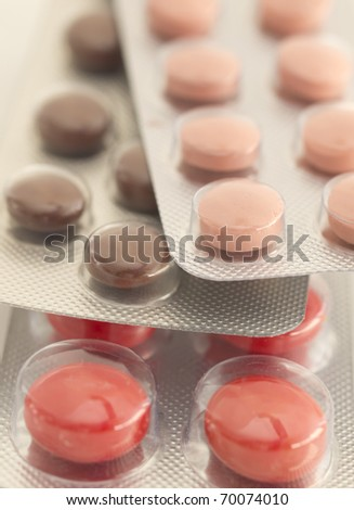 blisters of pills - stock photo
