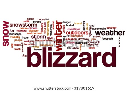 Blizzard word cloud