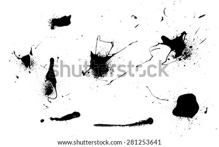 blobs of paint - stock photo