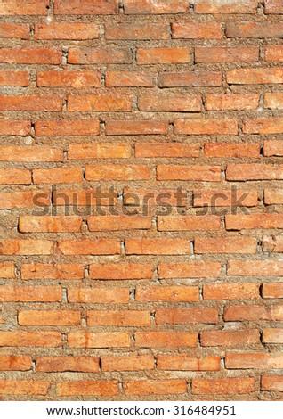 Block brick wall background texture. - stock photo