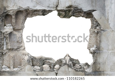 block  frame On a white background - stock photo