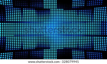 Block Led Lights Background - stock photo