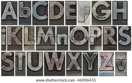 Block letters isolated on white - stock photo