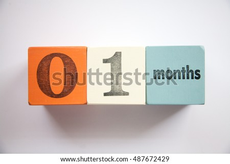 Block Numbers Letters New Born Baby Stock Photo 487672456 - Shutterstock