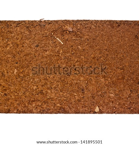 Block of Coconut Husk Fiber Chips surface background - stock photo