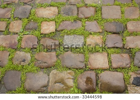 block pavement - stock photo