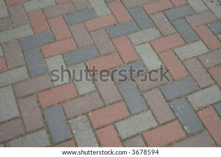 Block paving - stock photo