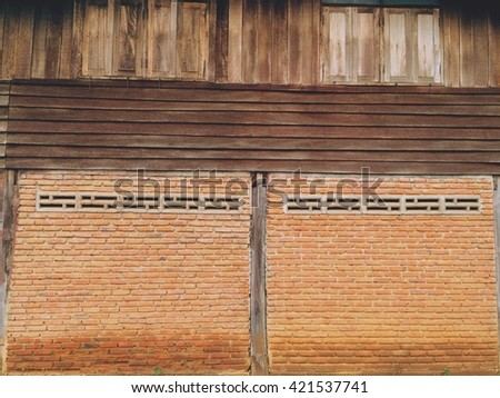 Block wall texture pattern and background.