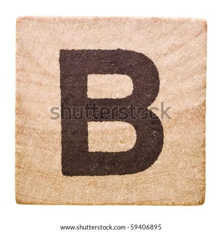 Block Letter B Isolated White Stock Shutterstock