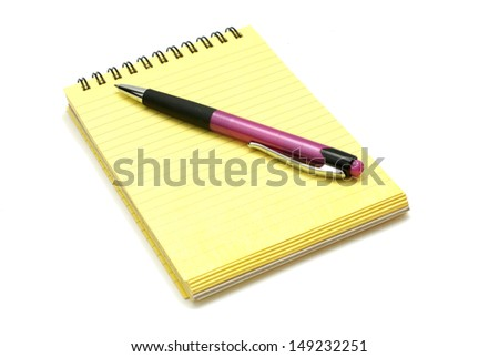 Block with pen - stock photo
