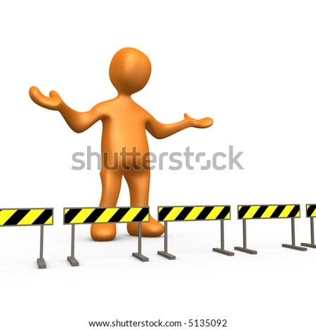 Blocked - stock photo