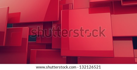 Blocks Abstract Background - stock photo
