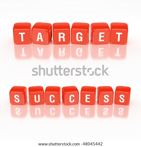 Blocks concept: Success and target words. - stock photo