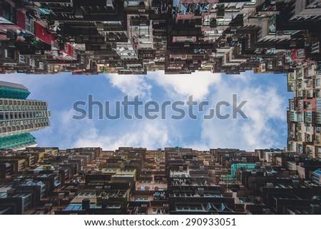 Blocks in Quarry Bay, Hongkong - stock photo