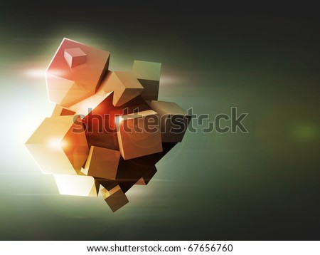 blocks of time, abstraction - stock photo