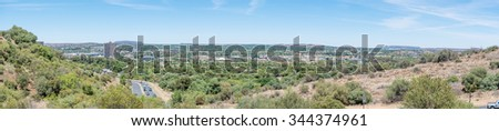 BLOEMFONTEIN, SOUTH AFRICA, NOVEMBER 27, 2015: Panoramic view of the Western parts of Bloemfontein, the capital city of the Free State Province