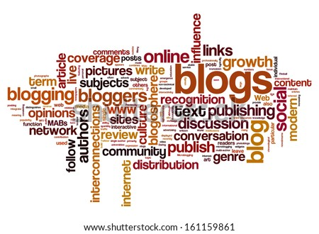 Blog and blogging concept word cloud background - stock photo