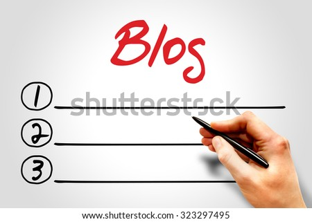 Blog blank list, business concept